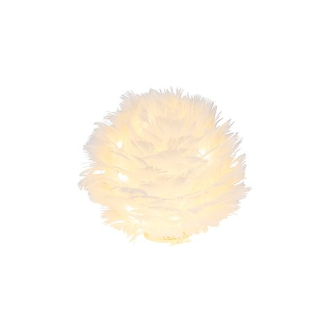 GEHL LED BALL IVORY FEATHERS SMALL