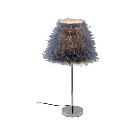 GEHL TABLE LAMP GREY FEATHERS