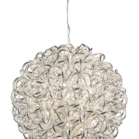 GEHL BALL LAMP 100LED SILVER 47CM
