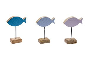GEHL FISH ON BASE BLUE/LILA 20X15