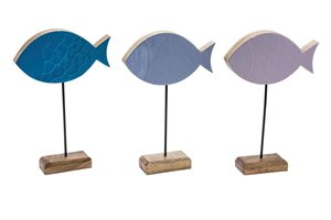 GEHL FISH ON BASE BLUE/LILAC