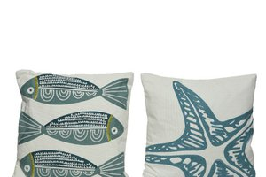 KAE CUSHION 43X43 FISH/STAR